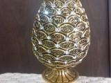 Esmaül hüsna altın renk kozalak polyester biblo dini ürünler