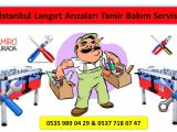 Ticari Oyun Makinaları Langırt Tamiri İstanbul