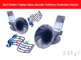 Seri Üretim Toptan Satış Akustik Telefonu Gramofon Hunisi