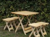 Ahşap katlanır masa tabure setleri ve çocuk ders çalışma setleri