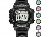 Synoke 9001 Spor Dijital Erkek Kol Saati Su Geçirmez alarm Kronometre
